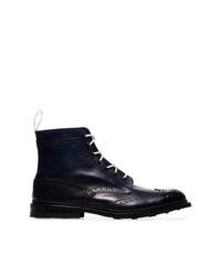 Stivali casual in pelle blu scuro di Trickers