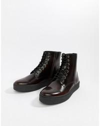 Stivali casual in pelle bordeaux di Zign
