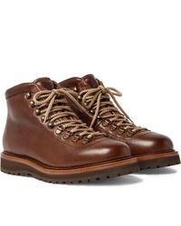 Stivali casual in pelle marroni di Brunello Cucinelli