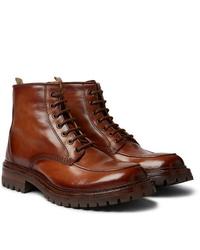 Stivali casual in pelle marroni di Officine Creative