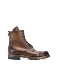 Stivali casual in pelle marroni di Silvano Sassetti