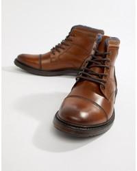 Stivali casual in pelle marroni di Silver Street