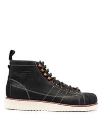 Stivali casual in pelle neri di adidas