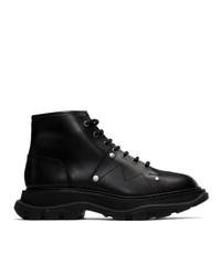 Stivali casual in pelle neri di Alexander McQueen