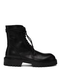 Stivali casual in pelle neri di Ann Demeulemeester