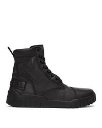 Stivali casual in pelle neri di Diesel