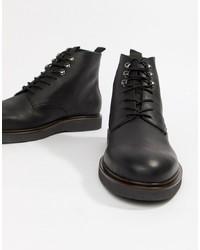 Stivali casual in pelle neri di H By Hudson