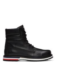 Stivali casual in pelle neri di Moncler