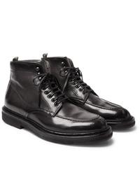 Stivali casual in pelle neri di Officine Creative