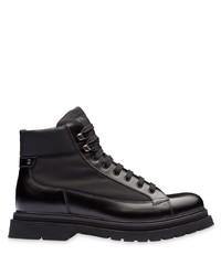Stivali casual in pelle neri di Prada