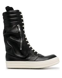 Stivali casual in pelle neri di Rick Owens