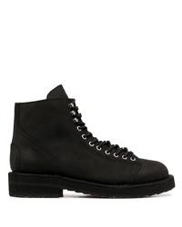 Stivali casual in pelle neri di Yohji Yamamoto
