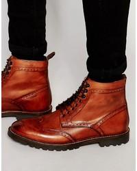 Stivali casual in pelle rossi