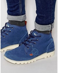 Stivali casual in pelle scamosciata blu