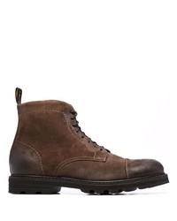 Stivali casual in pelle scamosciata marrone scuro di Doucal's