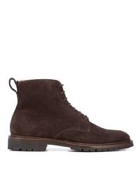Stivali casual in pelle scamosciata marrone scuro di Koio