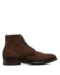Stivali casual in pelle scamosciata marrone scuro di Officine Creative