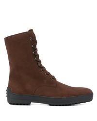 Stivali casual in pelle scamosciata marrone scuro di Tod's
