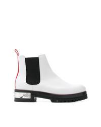 Stivali chelsea in pelle bianchi di Alexander McQueen