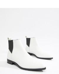 Stivali chelsea in pelle bianchi di ASOS DESIGN