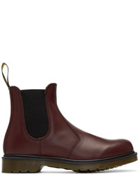 Stivali chelsea in pelle bordeaux