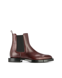 Stivali chelsea in pelle bordeaux di Alexander McQueen