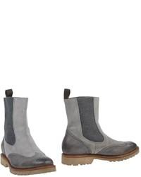 Stivali chelsea in pelle grigi