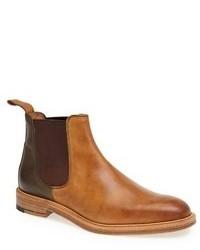 Stivali chelsea in pelle marrone chiaro