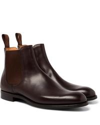 Stivali chelsea in pelle marrone scuro di Cheaney