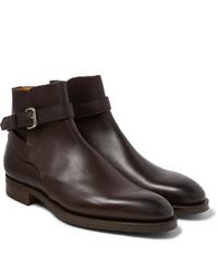 Stivali chelsea in pelle marrone scuro di Edward Green