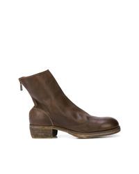 Stivali chelsea in pelle marrone scuro di Guidi