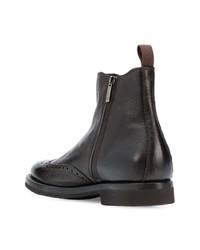 Stivali chelsea in pelle marrone scuro di Henderson Baracco