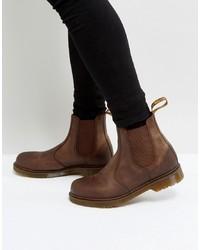 Stivali chelsea in pelle marroni di Dr. Martens