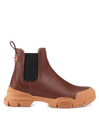 Stivali chelsea in pelle marroni di Gucci