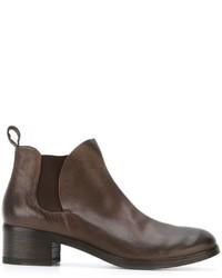 Stivali chelsea in pelle marroni di Marsèll