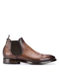 Stivali chelsea in pelle marroni di Officine Creative
