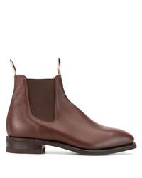 Stivali chelsea in pelle marroni di R.M. Williams