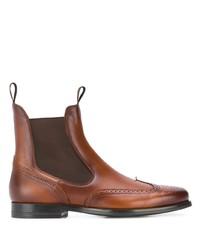 Stivali chelsea in pelle marroni di Santoni