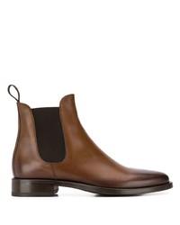 Stivali chelsea in pelle marroni di Scarosso
