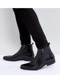 Stivali chelsea in pelle neri di ASOS DESIGN
