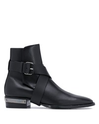 Stivali chelsea in pelle neri di Balmain