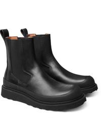 Stivali chelsea in pelle neri di Bottega Veneta