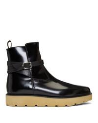 Stivali chelsea in pelle neri di Christian Louboutin