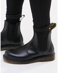 Stivali chelsea in pelle neri di Dr. Martens