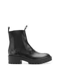 Stivali chelsea in pelle neri di Kenzo