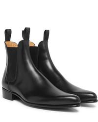 Stivali chelsea in pelle neri di Kingsman