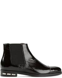 Stivali chelsea in pelle neri di Lanvin