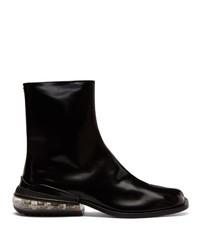 Stivali chelsea in pelle neri di Maison Margiela