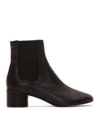 Stivali chelsea in pelle neri di MM6 MAISON MARGIELA