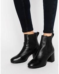Stivali chelsea in pelle neri di Park Lane